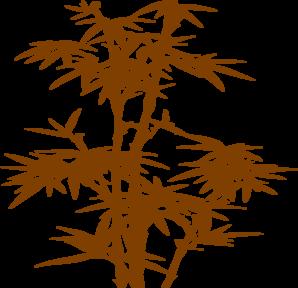 Rusty clip art at. Bamboo clipart brown bamboo