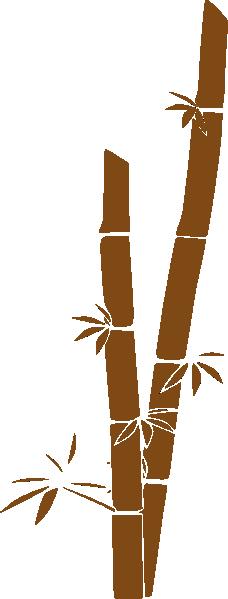 Bamboo clipart brown bamboo. Clip art at clker