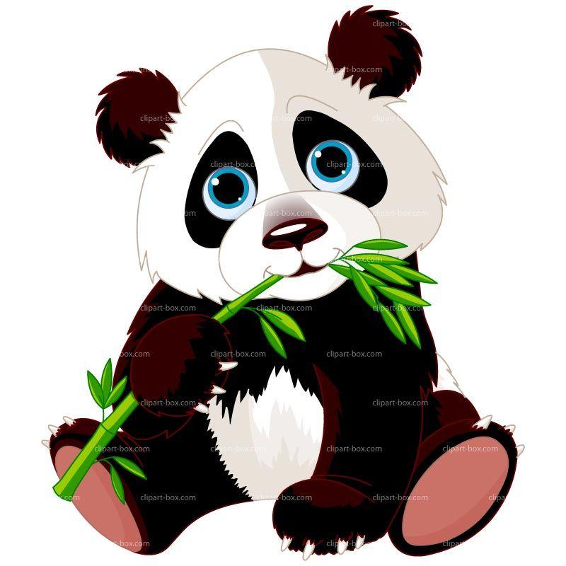 Eating royalty free vector. Bamboo clipart panda