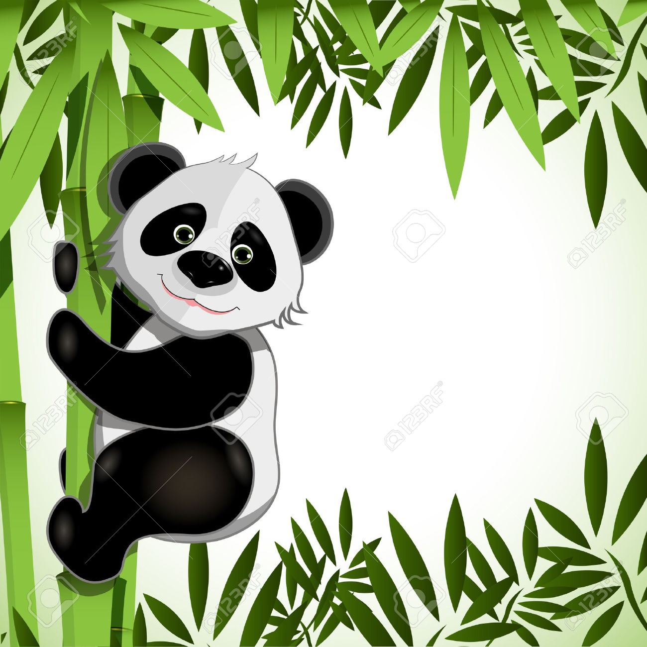 And . Bamboo clipart panda