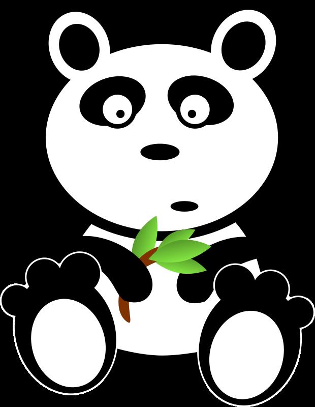 With leaves medium image. Bamboo clipart panda