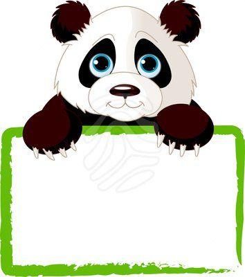 Clipart panda. Cute clip art three