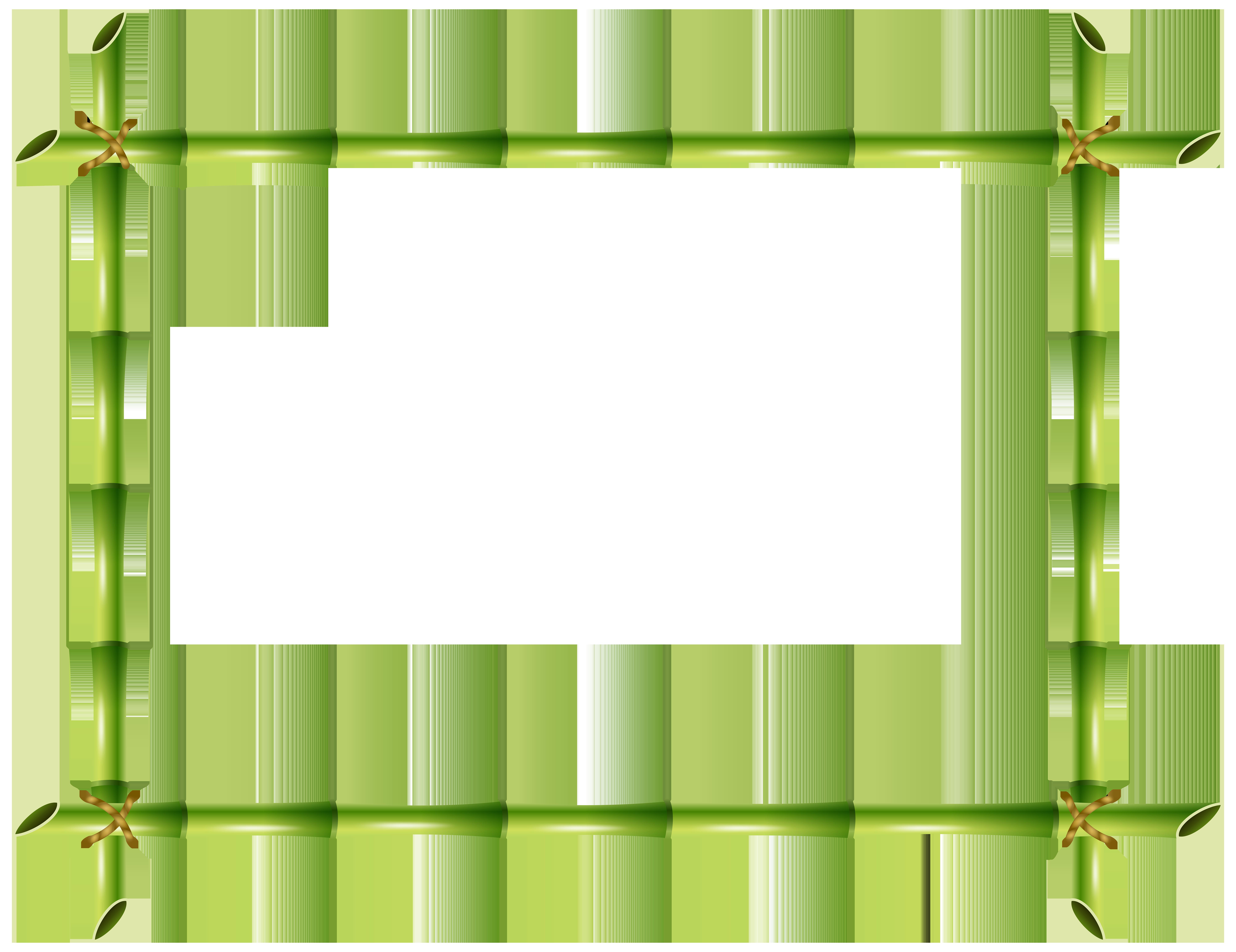 Transparent clip art image. Bamboo frame png