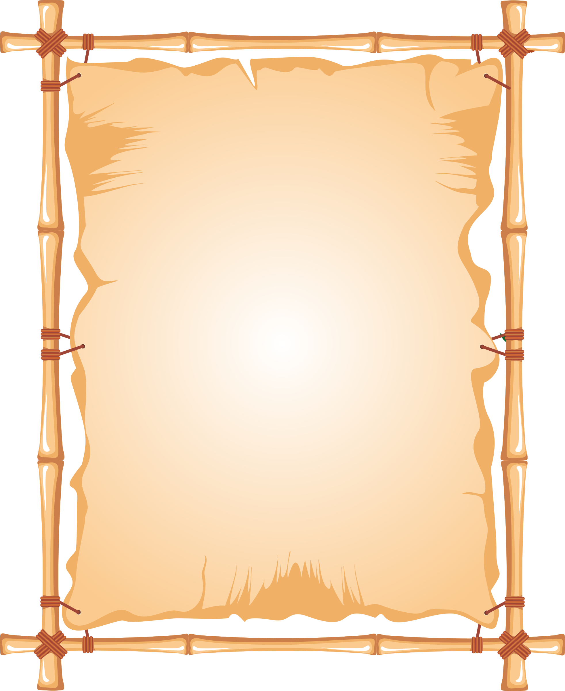 Bamboo frame png. Clipart big image