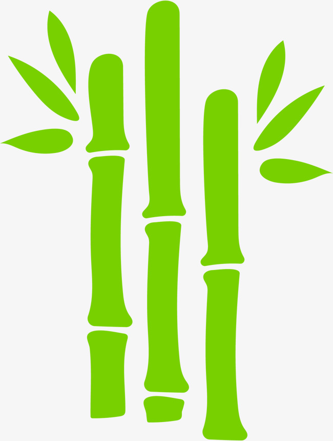 Bamboo clipart scroll. Hand painted green leaves