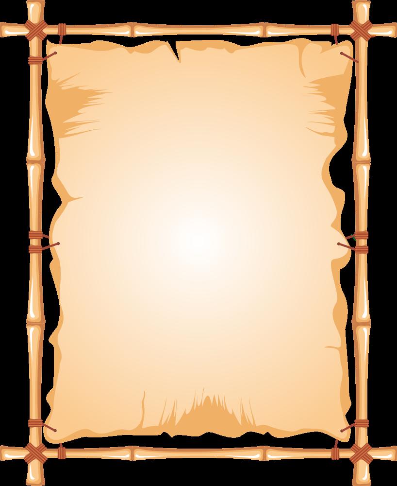 Onlinelabels clip art frame. Bamboo clipart scroll