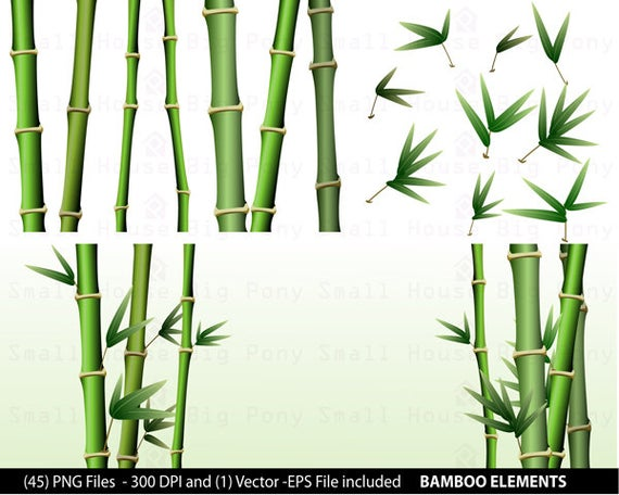 Bamboo clipart short. Pack clip art and