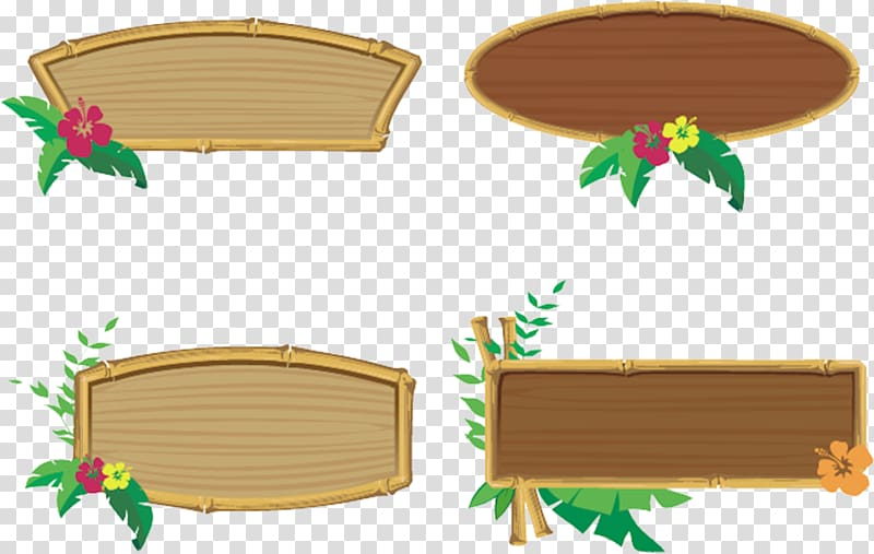 Bamboo borders collage frames. Tiki clipart culture