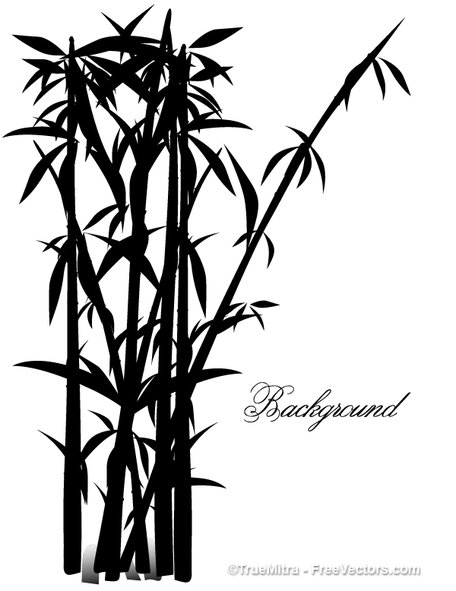 Bamboo clipart silhouette. Free tree silhouettes and