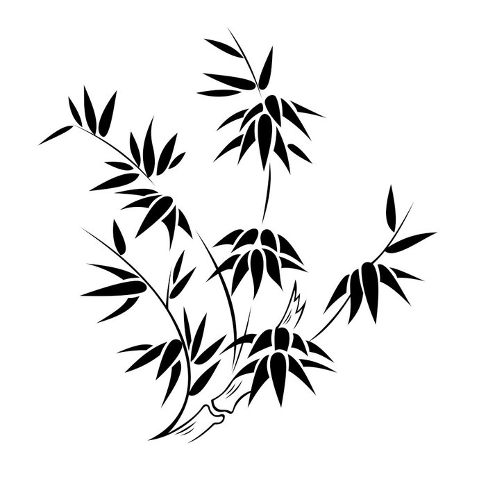 Bamboo clipart vector. Plant graphics design svg