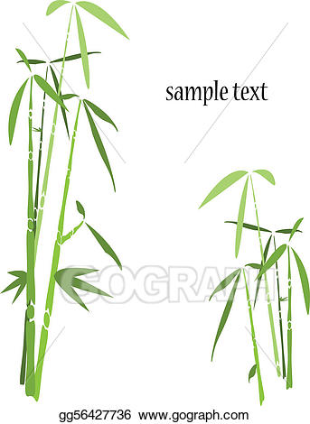 Stock orient background trees. Bamboo clipart vector
