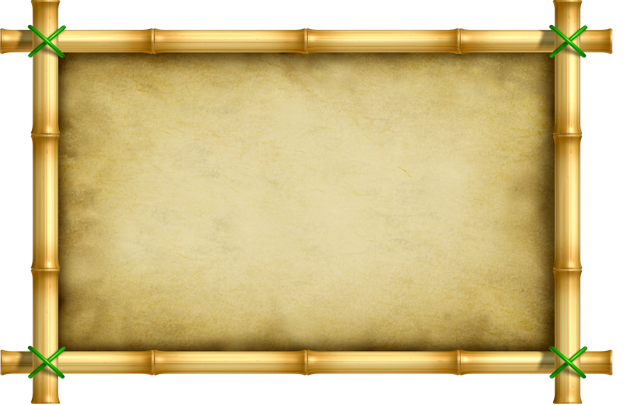 Bamboo frame png.  jpg black and