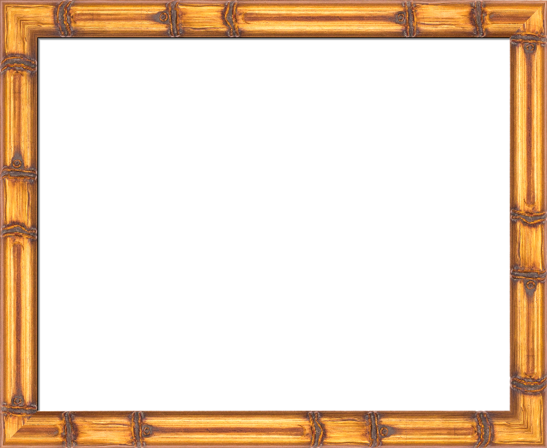 Bamboo frame png. Gold style aztec i