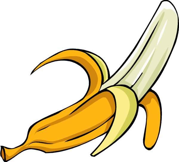 Banana clipart.  peel