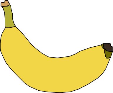 Banana clipart animated.
