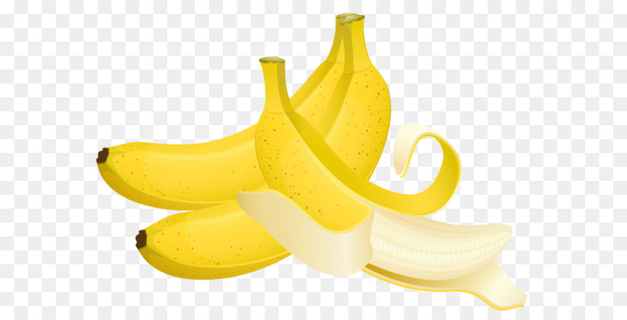 Banana clipart babana. Fruit cartoon large painted