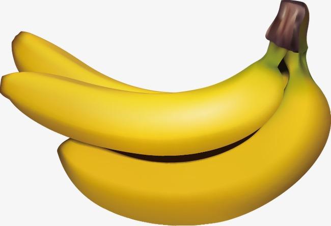Banana clipart banana fruit. Realistic food delicious png