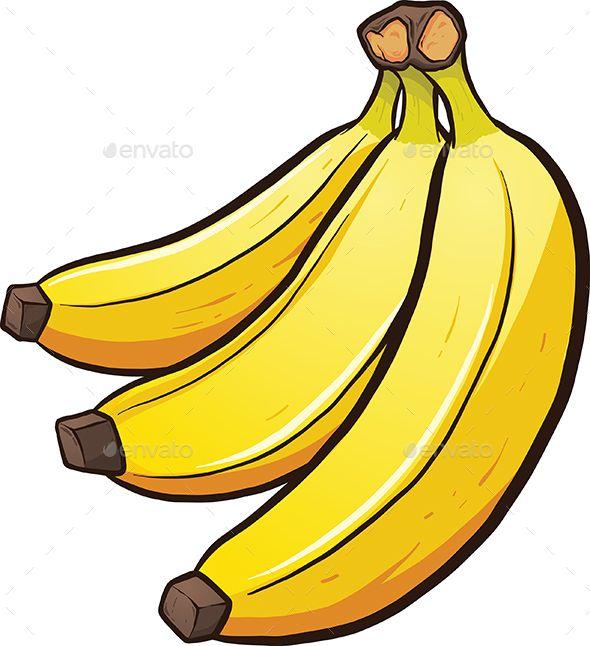 A bundle of cartoon. Bananas clipart simple
