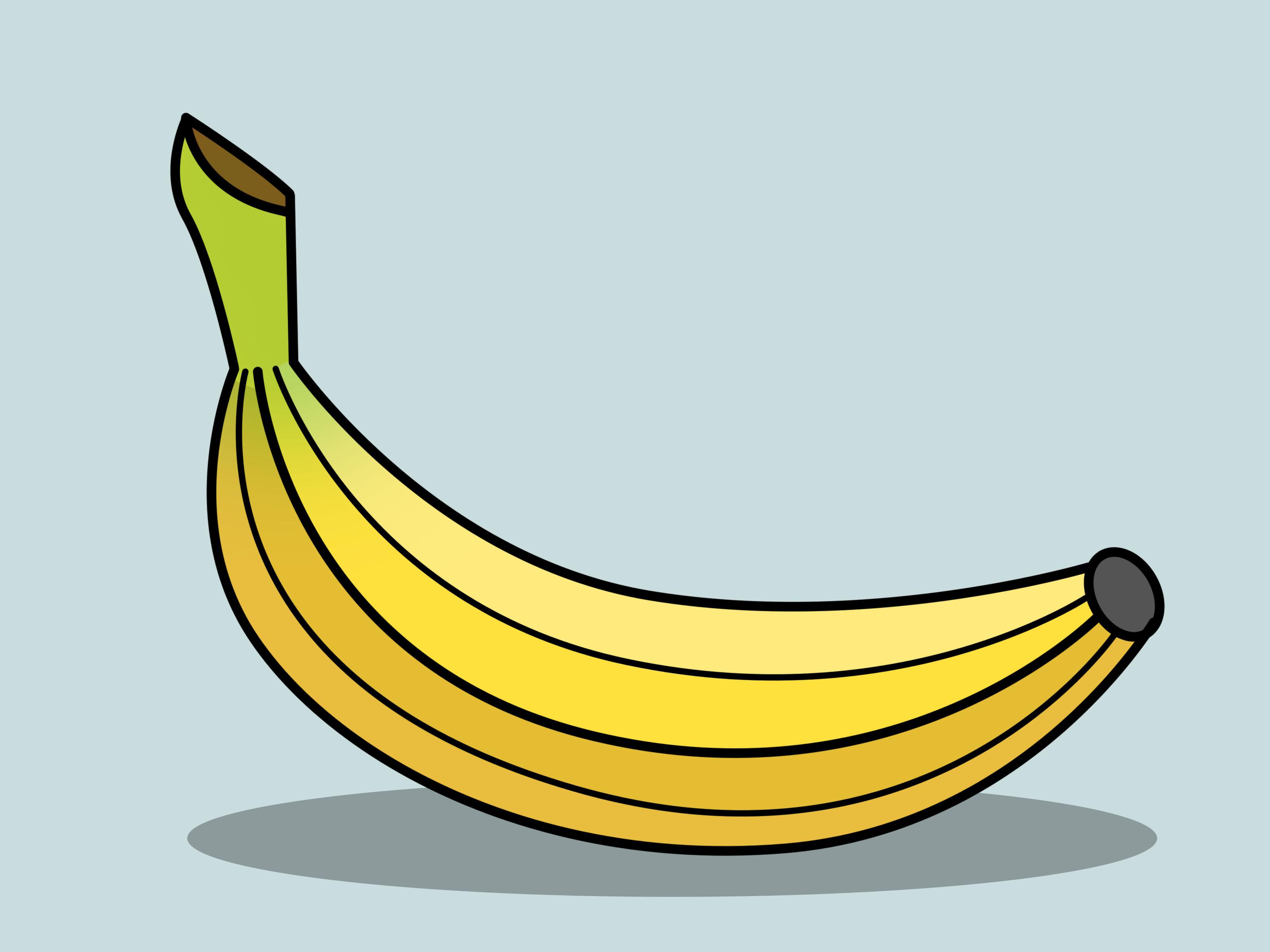 How to draw a. Banana clipart banna