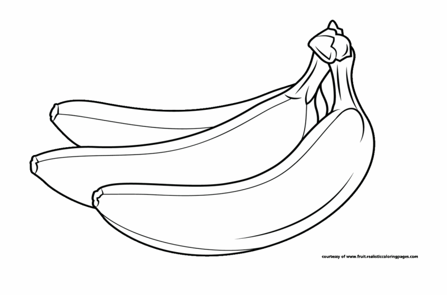 Single vegetable cute cartoon. Banana clipart black and white