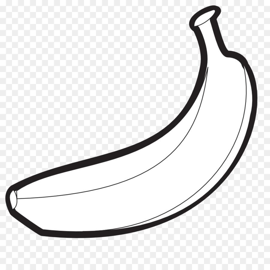 Transparent . Banana clipart black and white