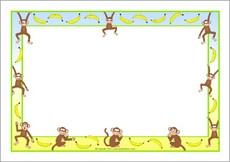Monkey clipart border. Free cliparts download clip