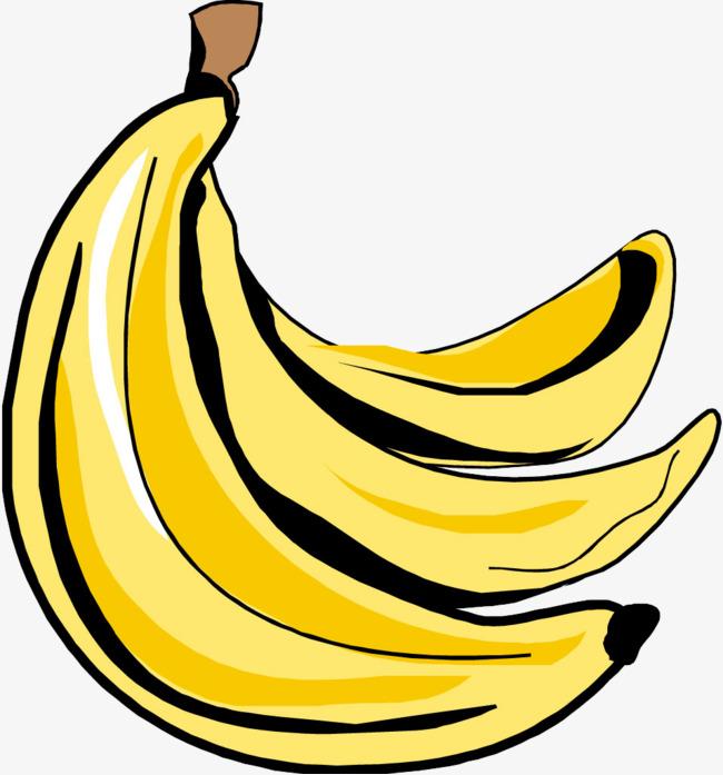 Banana clipart cartoon. Hand painted png image