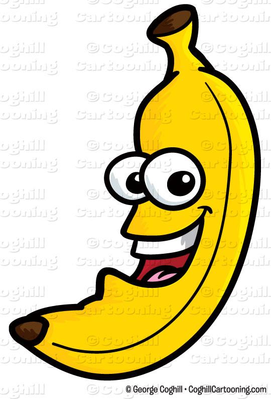 Clip art stock illustration. Banana clipart cartoon