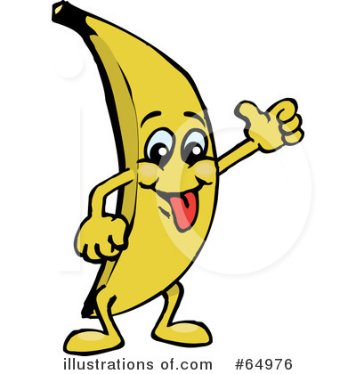 Illustration by dennis holmes. Clipart banana character