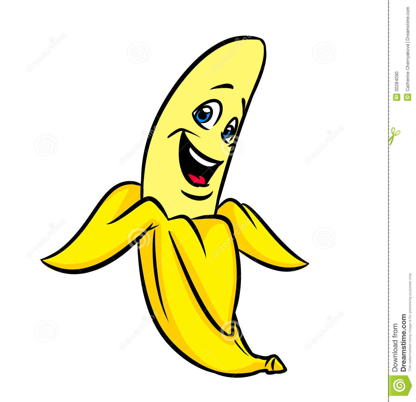 Banana clipart cute.