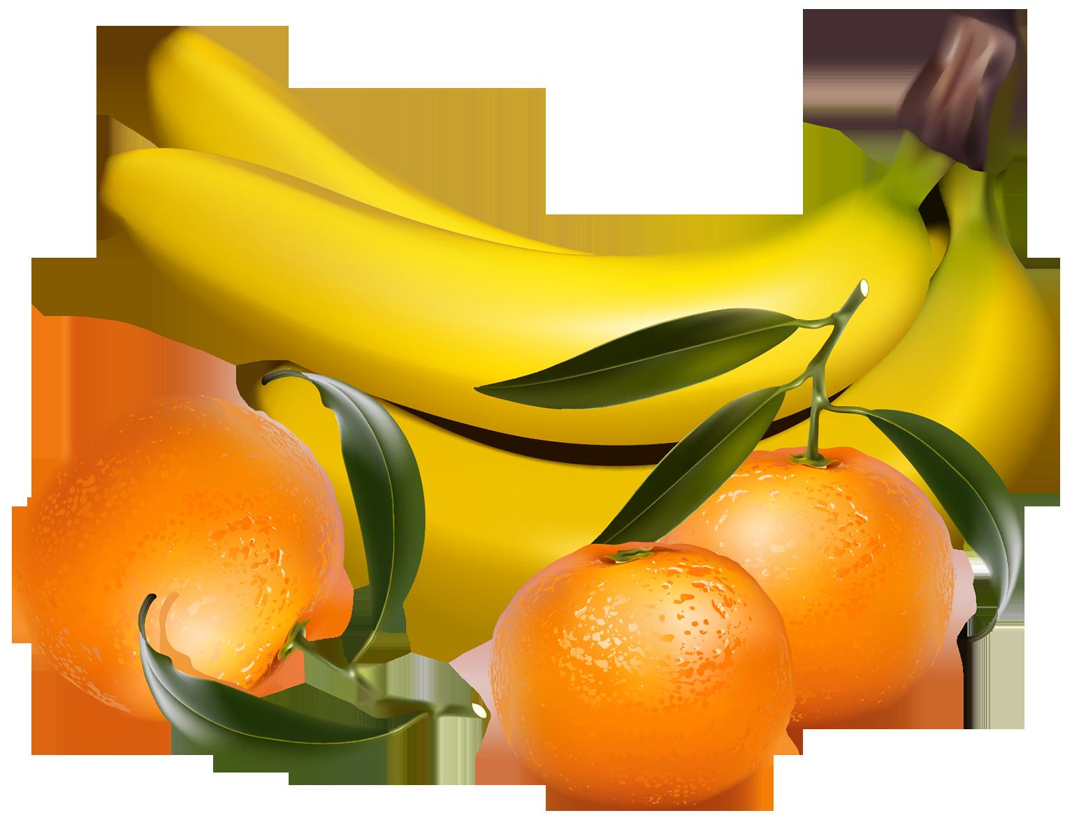Orange clipart banana. Bananas and tangerines png