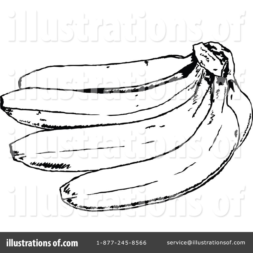 Banana by prawny royaltyfree. Bananas clipart illustration
