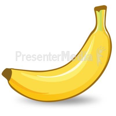 Presentation great for presentations. Banana clipart illustration
