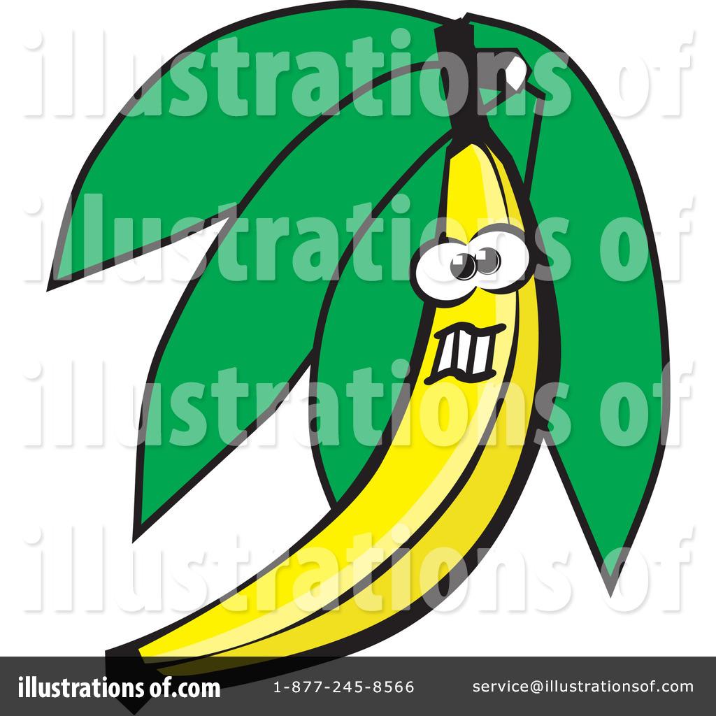 Banana clipart illustration. By david rey royaltyfree
