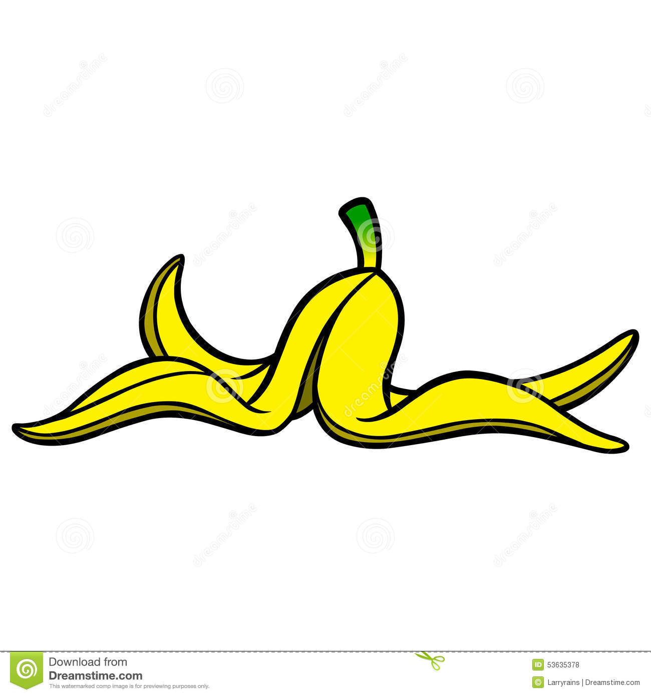 Banana clipart illustration. Peeled peel cartoon
