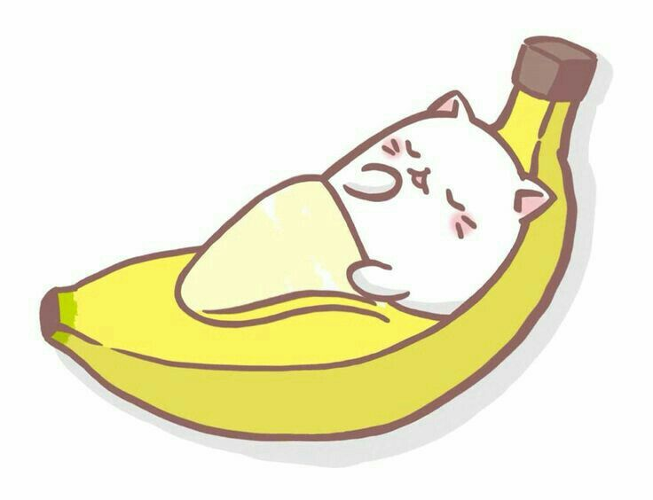 Cat cute pinterest bananas. Banana clipart kawaii