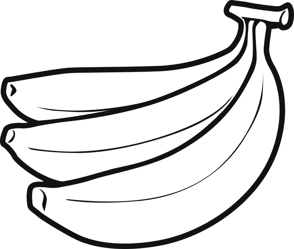 Bunch drawing at getdrawings. Banana clipart line art