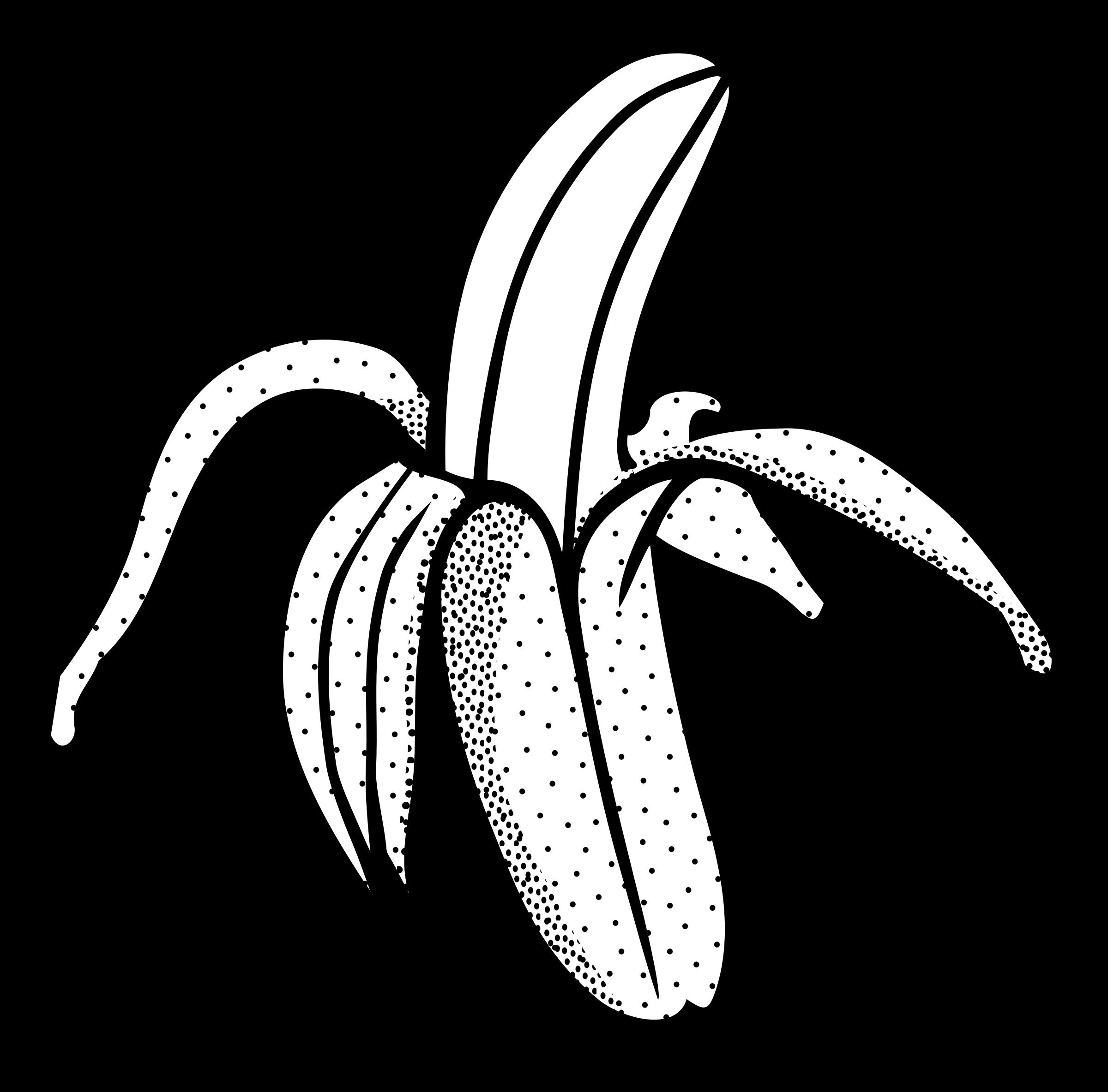 Snake clipart bitmap. Banana lineart icons png