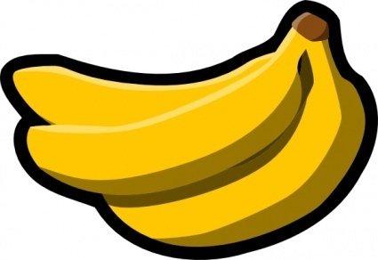 Bananas icon clip art. Banana clipart logo