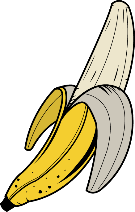 Banana clipart open. Free images clipartix