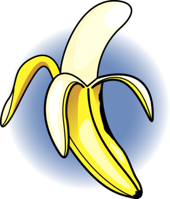 Banana clipart open. Image food clip art