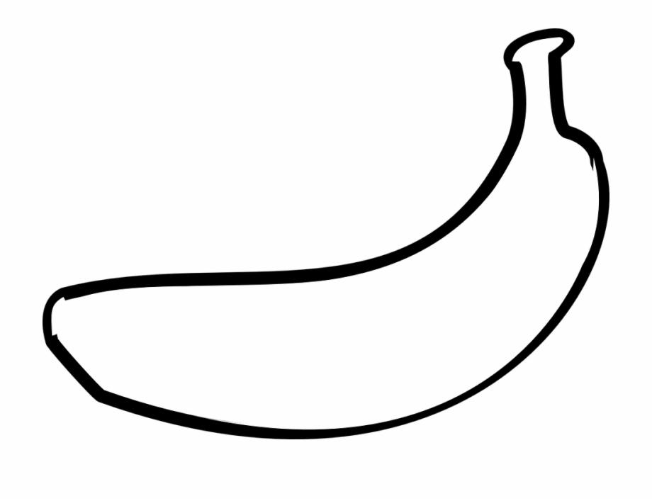 Banana clipart outline. White