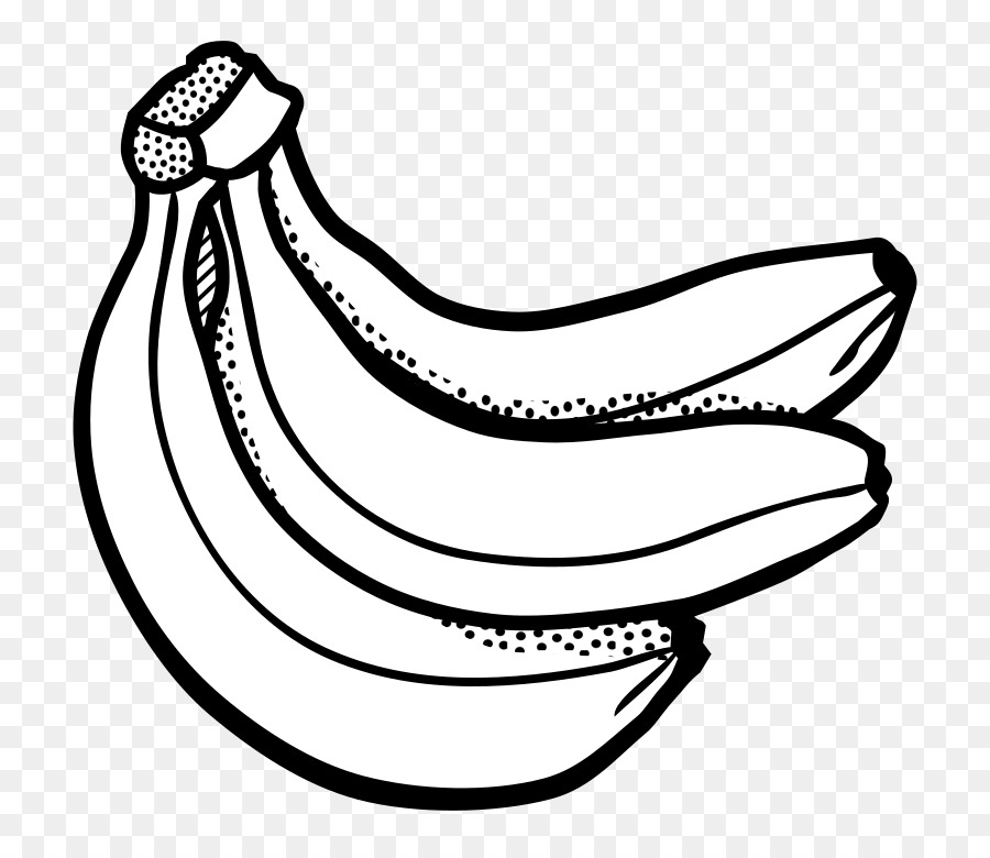 Black and white transparent. Banana clipart outline