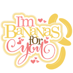I m bananas for. Banana clipart pink