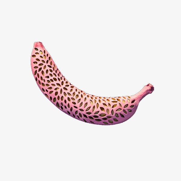 Banana clipart pink. Theme three dimensional design