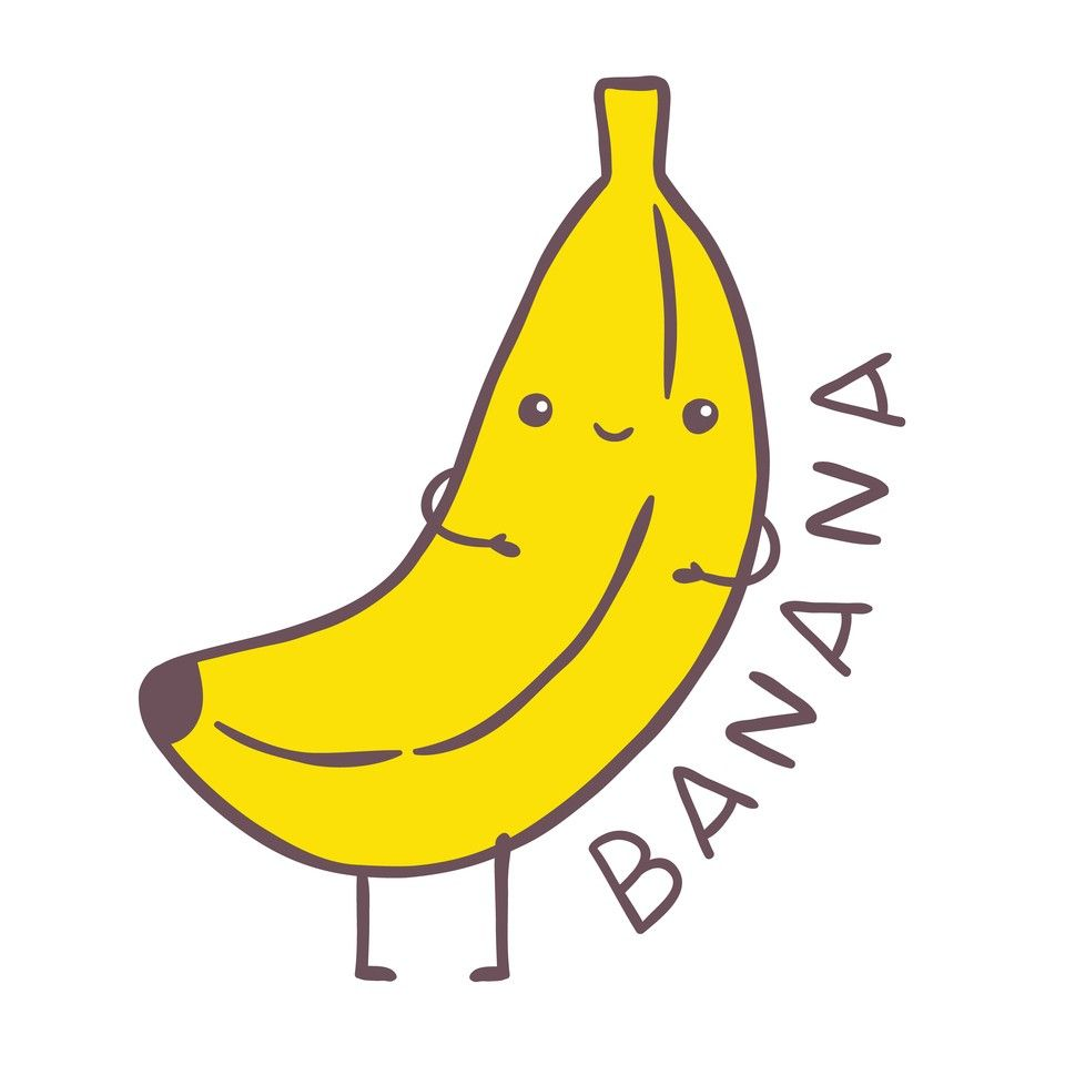 Cute cartoon google search. Banana clipart reference