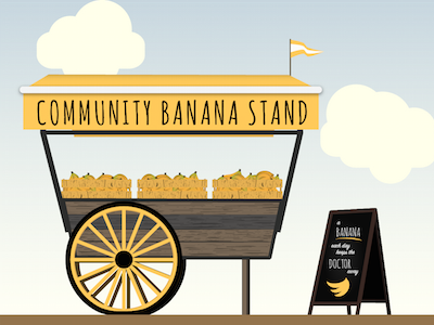 Stand by sarah fischer. Banana clipart reference