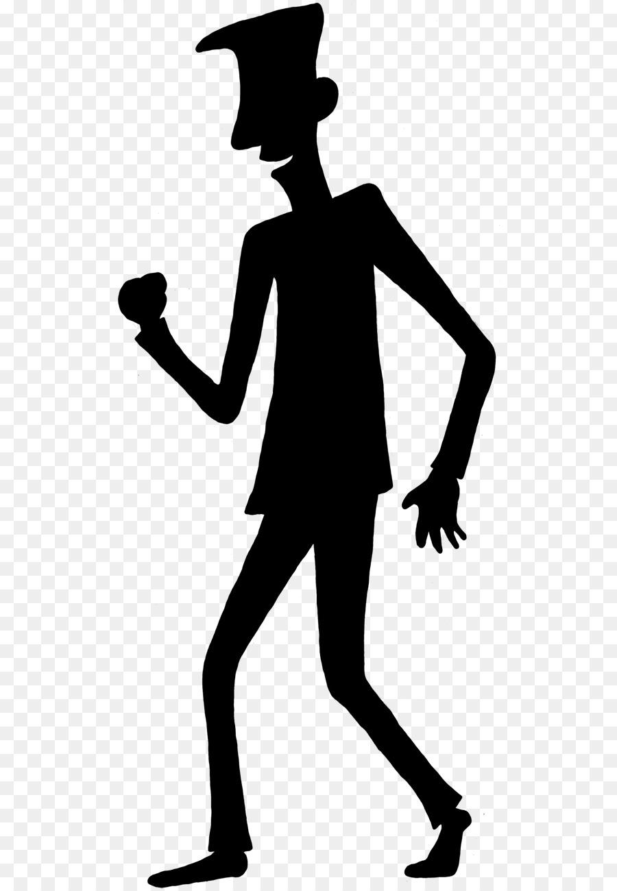 Banana clipart shadow. Person cartoon silhouette clip