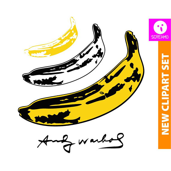 Andy warhol art svg. Banana clipart silhouette