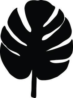 Banana clipart silhouette. Silhouettegarden com pinterest leaves